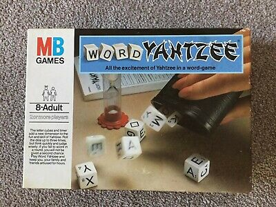 Vintage Word Yahtzee MB Games 1979 Edition - Boxed & Complete • 6.45£