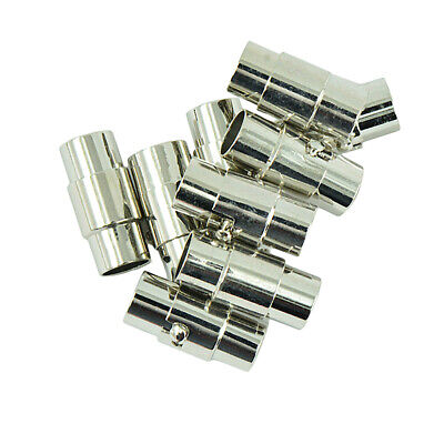 10x Magnetic Lock Clasp Kumihimo End Cap Glue Leather Cord Bracelet Fittings • 2.72£