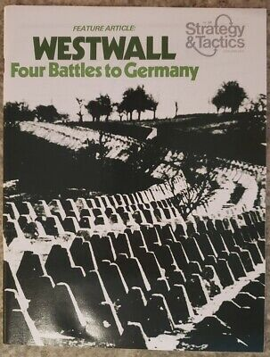 Vintage Strategy & Tactics, WarGame #54, Westwall, Unpunched • 8$