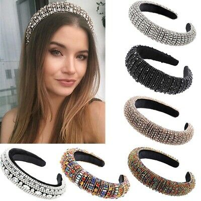 $ CDN17.98 • Buy Baroque Crystal Headband Rhinestone Hair Band Tiaras Crowns Accessories Wedding