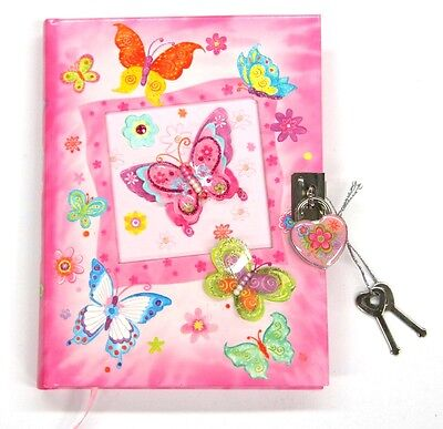 AU12 • Buy Girls Lockable Diary - Butterfly Diary - New Girls Diary With Lock Butterflies