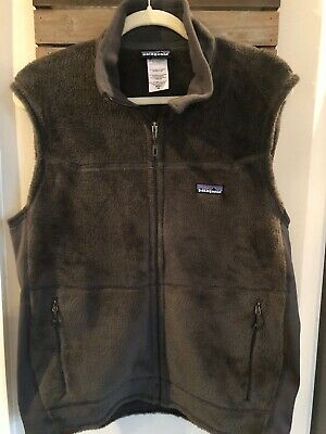 Mens Patagonia Furry Polartec Thermal Pro Grey Vest Sz M • 65$