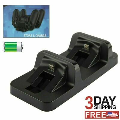 AU12.24 • Buy PS4 Controller Fast Charging Station Dock Stand Dualshock USB Cable Charger Base