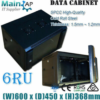 AU155 • Buy 6RU 600mmX450mm WALL MOUNT NETWORK SERVER CABINET HOME THERTER Combo