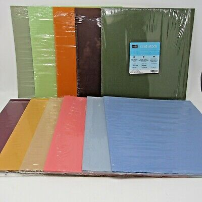 $65 • Buy Stampin' Up Card Stock Lot Of 11 Partial Packages Various Colors 12 X 12  120+