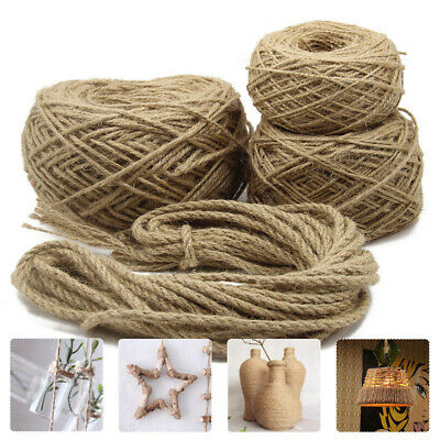 Craft Hemp Rope Strong Natural Jute Twine For Art DIY Cat Scratching Bundling UK • 22.74£