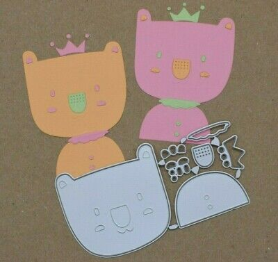 Quality Metal Cutting Die, Bear With A Crown Kit, Card Making, Scrapbooking • 3.25£