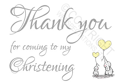 £0.99 • Buy 1-100 Pack Thank You For Coming To My Christening Cards Favours Girls Boys Cute