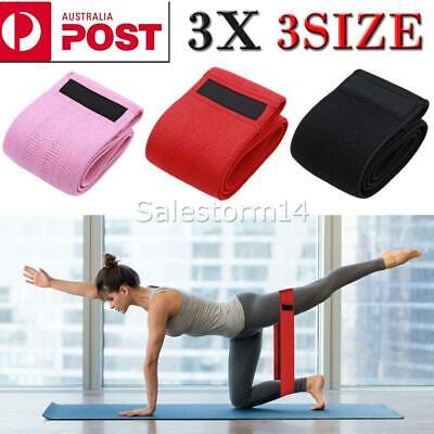 AU15.99 • Buy 3PCS Resistance Bands Set For Exercise Women Legs Arms Booty Yoga Physio AUS