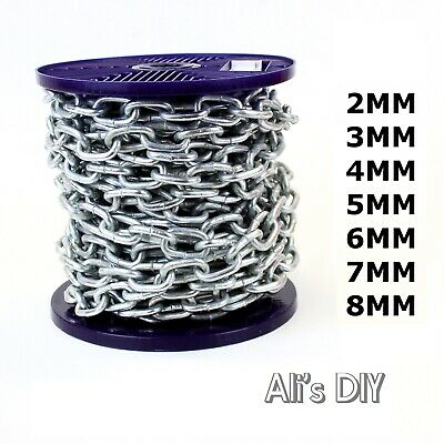 Hot Dipped Galvanised Steel Chain Heavy Duty Outdoor Durable Security Links • 0.99£