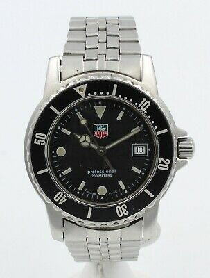 Tag Heuer Professional Men's Diver Wristwatch 200 Meter Swiss No Reserve #7218-2 • 202.50$