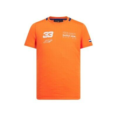 NEW 2019 Aston Martin RED BULL Racing F1 Max Verstappen #33 T Shirt ORANGE • 24.95£