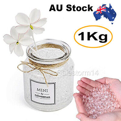 AU9.95 • Buy 1KG/10000x HARDENED Water Gel Ball Clear Water Beads Gell Blaster Vases Orbeez