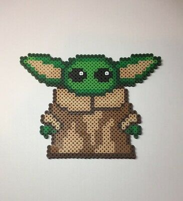 $11.35 • Buy Baby Yoda Handmade Pixel Art - Cute Handmade Decoration Mandalorian