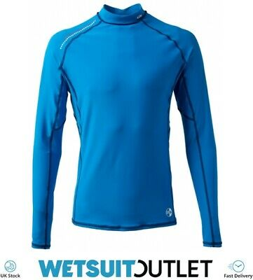 Gill Pro Rash Vest Top BLUE Easy Stretch UV Sun Protection SPF Long Sleeve Mm • 30.94£