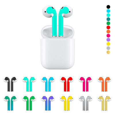 $ CDN3.77 • Buy Solid Color Skin Sticker For Apple Airpods AirPod Earphone Earphone Accessories