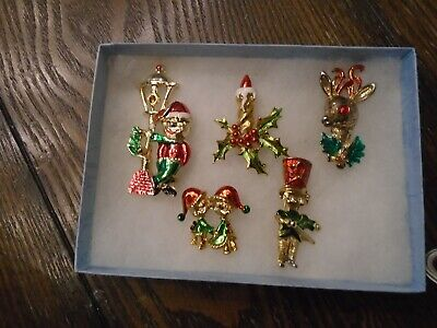 $ CDN29.99 • Buy Lot Of Vintage( 1950s)  Christmas Holiday Detailed Brooxhes, Pins