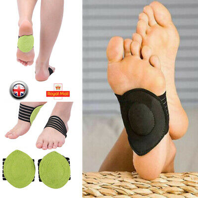 Foot Arch Support Plantar Cushion Fasciitis Aid Fallen Insole Heel Pain Relief • 2.51£