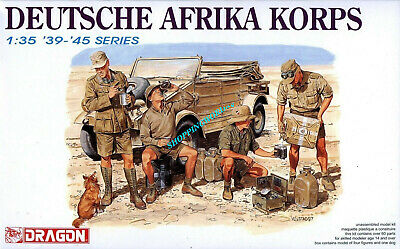 Dragon 6063 1/35 WWII German Afirca Corps Infantry (4 Figures) 2019 • 18.91£