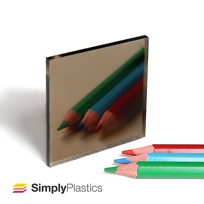 3mm Plaskolite® Bronze 2404 Acrylic Mirror Perspex Plastic Sheet Panel / A4 A3  • 9.40£