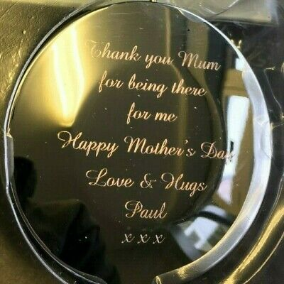 Personalised Engraved Compact Mirror - Round • 11£