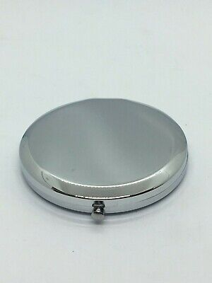 Personalised Silver Plated Engraved Compact Mirror - Round • 10£