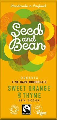 Seed And Bean Fair Trade & Organic Sweet Orange And Thyme Fine Dark Chocolate 85 • 20.27£