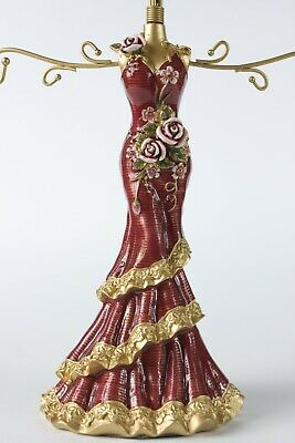 Beautiful Mannequin Jewellery Stand / Tree Display Necklace Holder Lady Red • 11.99£