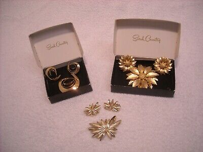 $21 • Buy Vintage Sarah Coventry Pin & Earring Sets(3)