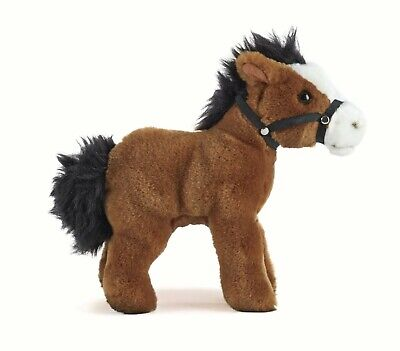 £16.99 • Buy New Living Nature Horse With Bridle An344 Soft Cuddly Realistic Plush Pony Toy