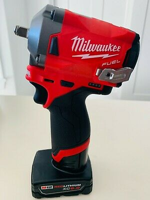 Milwaukee M12 FUEL 3/8  STUBBY Impact  2554-20 250 Ft-lbs With 1-6AH BATTERY  • 127$