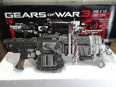 $336.18 • Buy Official Gears Of War 3 Bloody Retro Lancer Weapon Replica LIFE SIZE - Mint