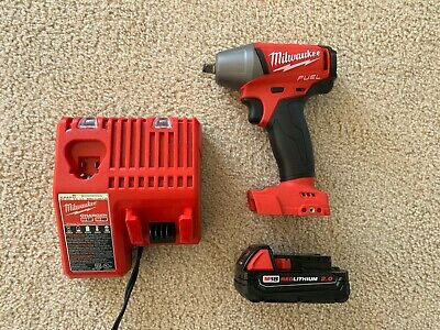 Milwaukee 2754-20 18v 3/8  Impact Wrench W/ 2.0 Ah Battery And Charger • 185$