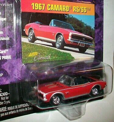 Johnny Lightning Chevy 1967 Camaro RS/SS  Rs Ss Red Convertible New In Pack • 12.45$