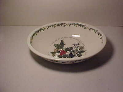 Portmeirion Holly & Ivy Oval Serving Bowl 12 1/8  By 9 1/2  • 19.99$