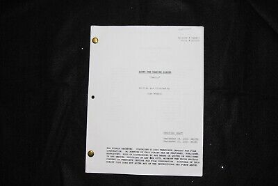 "$14.99 • Buy Buffy The Vampire Slayer TV Series Shooting Script ""Family  9/25/2000"