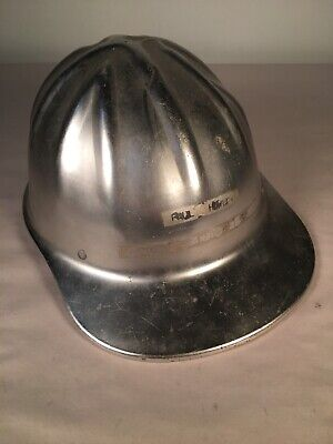 Vintage Aluminum Hard Hat Willson Metal Helmet Safety Union • 25$