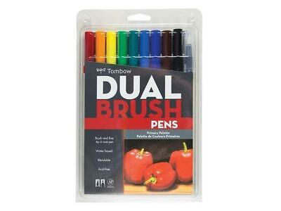 AU26.95 • Buy AU STOCK Tombow Dual Brush Pens Set Of 10 Art Markers Primary Palette 56167 NEW