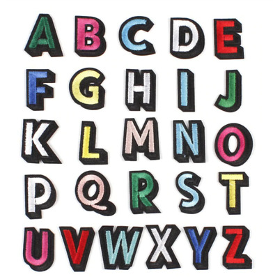 £0.99 • Buy Colourful A-Z Alphabet Letter Letters  Iron On Patches Embroidery Patch Clothes