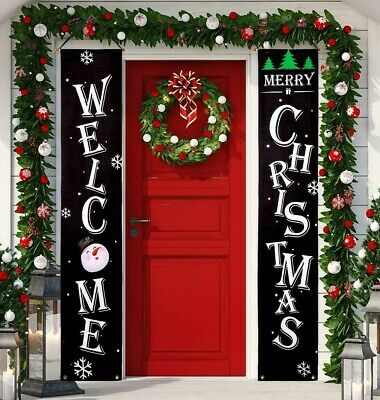 $15.93 • Buy 2 Banners 5.7 Ft Outdoor Indoor Christmas Decoration Hanging Porch Wall Sign