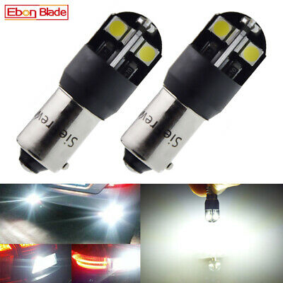 AU6.99 • Buy Pair BAX9S H6W LED Car Bulbs Canbus Error Free Backup Reverse Lights White 12V