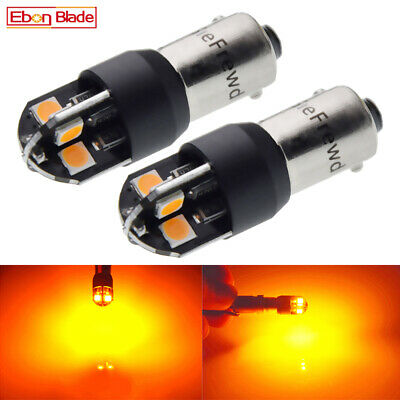 AU7.19 • Buy 2x BAX9S H6W Canbus LED Car Light Amber Yellow Side Parker Turn Signal Bulbs 12V