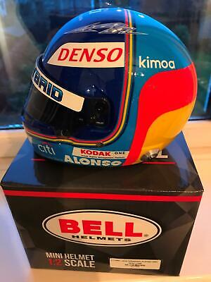 1/2 Scale Helmet Signed By Fernando Alonso  WEC Le Mans Toyota Formula 1 Wow • 399.99£