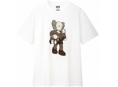 $90.99 • Buy Kaws X Uniqlo Men's NWT White Clean Slate S/S T-Shirt Size Medium SOLD OUT