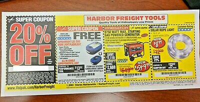 $2.99 • Buy Harbor Freight 20% Off Single Item Coupon - Home Depot, Lowe's! ~ Exp. Feb 1