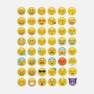 AU2.95 • Buy 144 Emoji Stickers Sheet Emoticon Bullet Journal Japanese Style ~ Smiley Faces