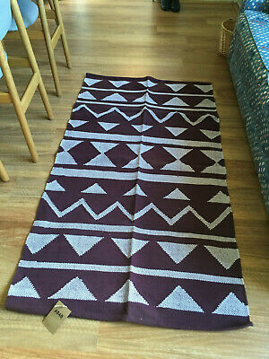 AU20 • Buy Urban Outfitters Cotton Rug Purple White Floor Brand New