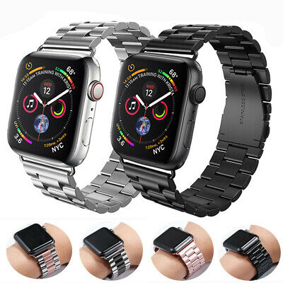 $ CDN12.42 • Buy For Apple Watch Series 5 4 3 2 1 Stainless Steel Band Strap Bracelet 42mm 44mm