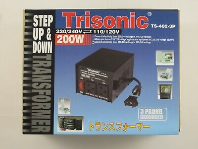 New Transformer Step Up/down Voltage Converter 110v To 220v Adapter 100/200/300w • 38.26£