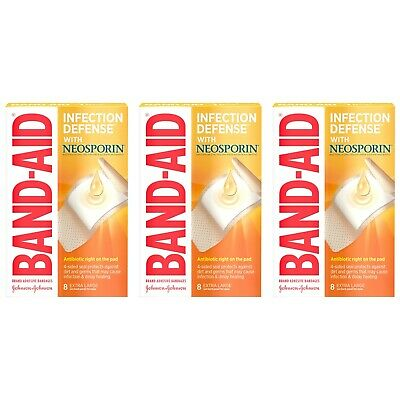 £14.51 • Buy Band-Aid 24 EXTRA LARGE ADHESIVE BANDAGES XL With NEOSPORIN ONE STEP PROTECTION